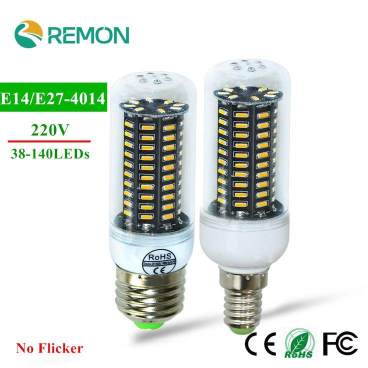 Bombilla LED E27 E24 SMD 4014 lamparas LED Luz 38 55 78 88 140 Leds Lampada LED Lámpara 220 V Ampolla Vela Luz Más Brillante Que 5730