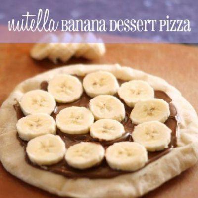 Nutella Banana Dessert Pizza