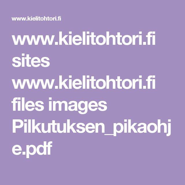 www.kielitohtori.fi sites www.kielitohtori.fi files images Pilkutuksen_pikaohje.pdf