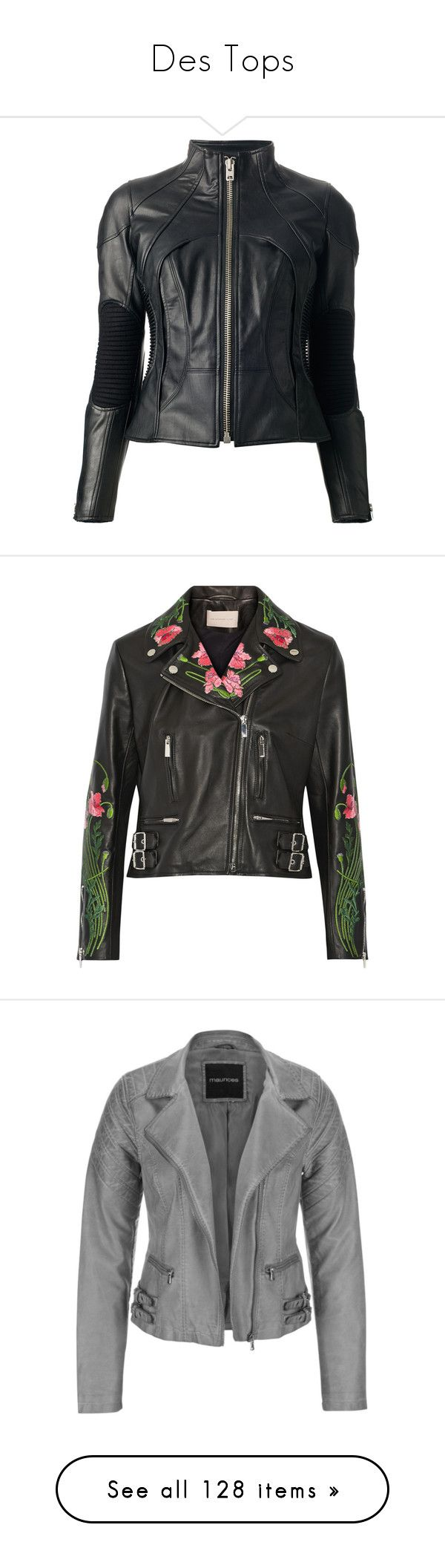 """""""Des Tops"""" by ramble-on-my-wayward-cherry-pie ❤ liked on Polyvore featuring outerwear, jackets, leather jacket, tops, black, 100 leather jacket, zipper leather jacket, zip jacket, genuine leather jackets and elbow patch jacket"""