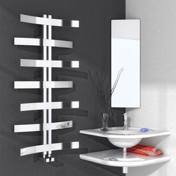 Reina Lioni Designer Heated Towel Rail 1200mm H x 600mm W Stainless Steel