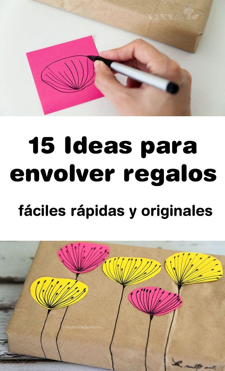 15 ideas f ciles r pidas y originales para envolver - Ideas para envolver regalos navidenos ...