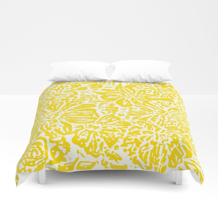 Buy Marigold Lino Cut, Mustard Yellow Duvet Cover by alexandratarasoff. Worldwide shipping available at Society6.com. Just one of millions of high quality products available.