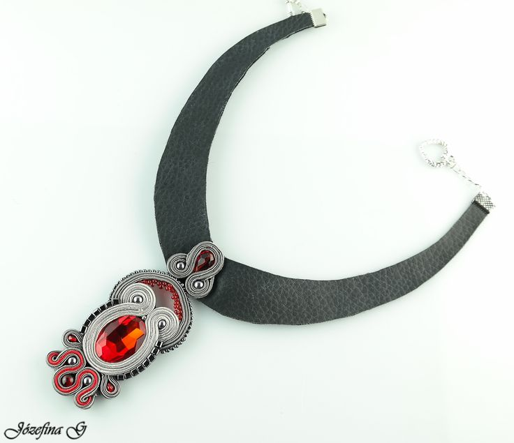 Handmade soutache necklace  https://www.etsy.com/listing/215742917/red-heart-necklace?ref=shop_home_active_1