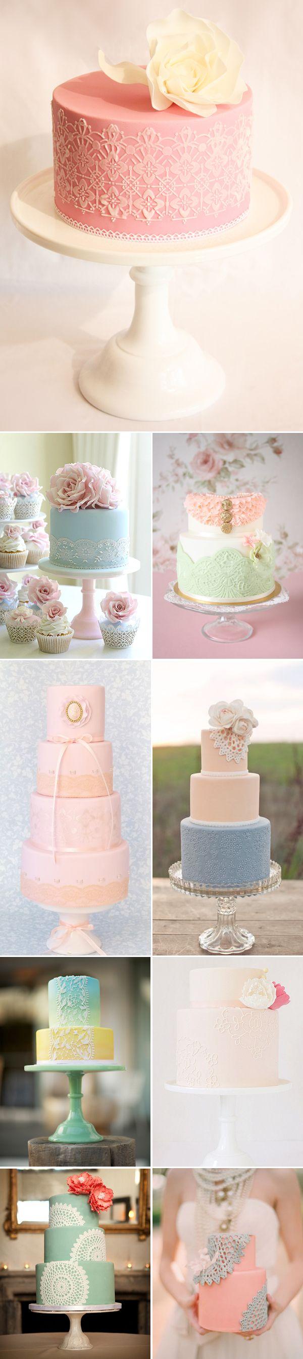15 Romantic Laced Cakes - http://www.praisewedding.com/archives/2350