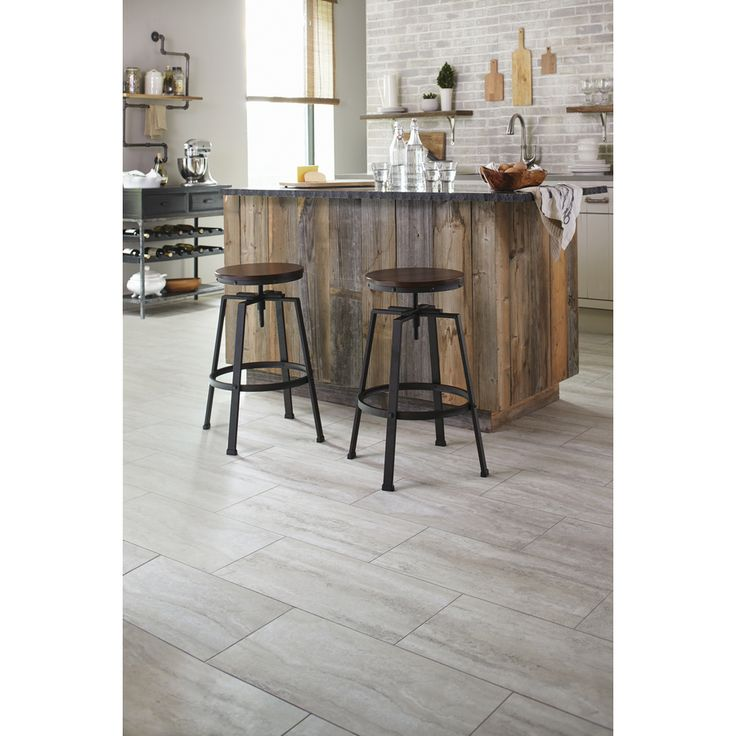 Shop Stainmaster 12 In X 24 In Groutable Oyster Travertine