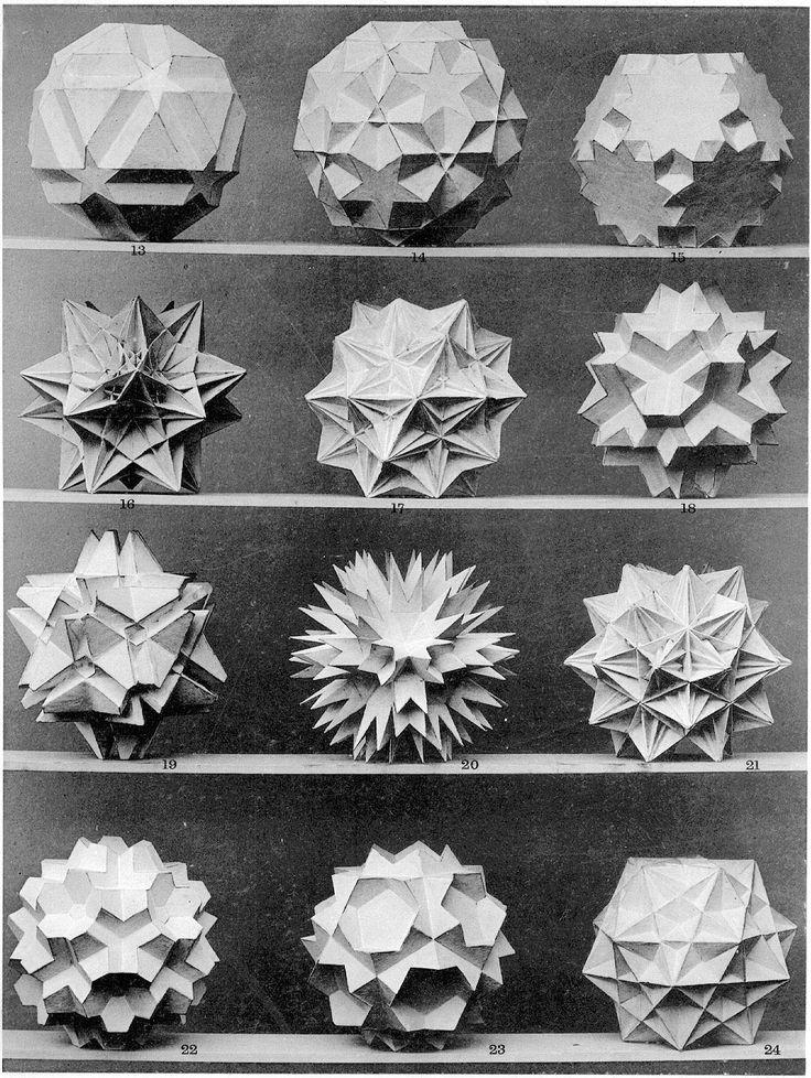 "Magic Transistor on Tumblr. Prof. Dr. Max Bruckner; Four Plates from the Book ""Vielecke und Vielflache"", (1900)."