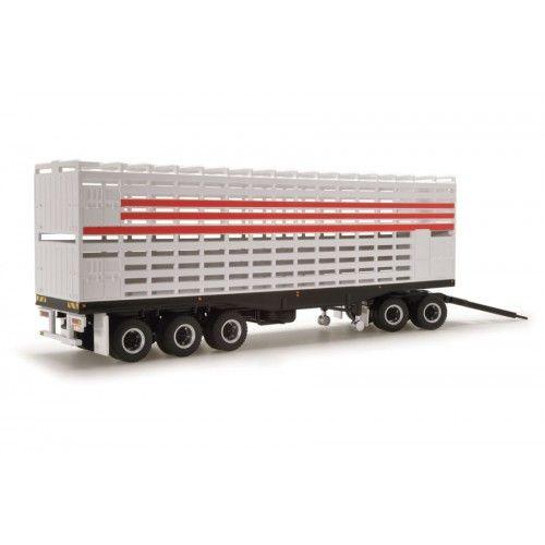 Livestock Road Train Trailer & Dolly - White/Red
