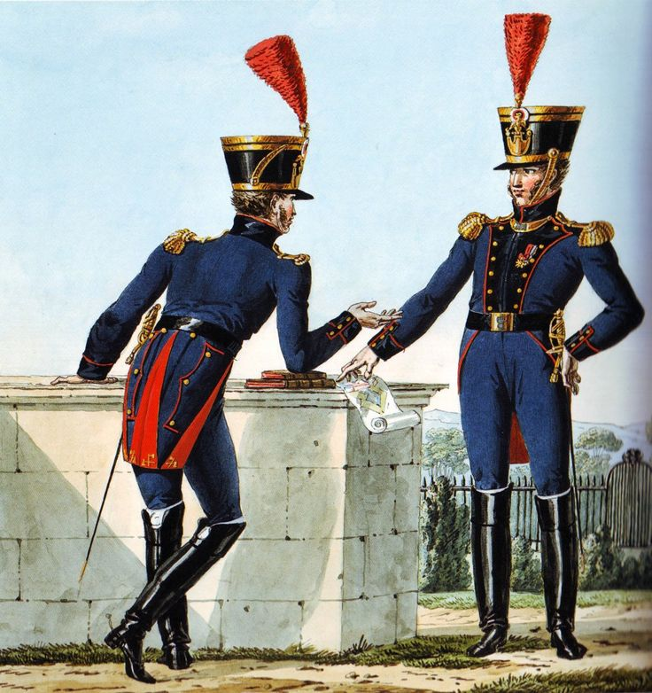 French Army 1812 Engineer Officers by Vernet