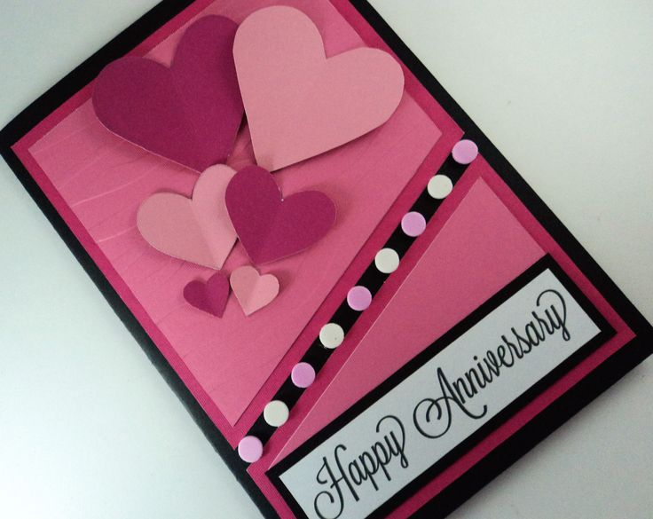 This is a beautiful handmade anniversary card that is perfect for your loved ones.