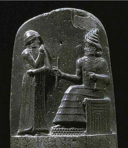 stela Hammurabiego (fragment)