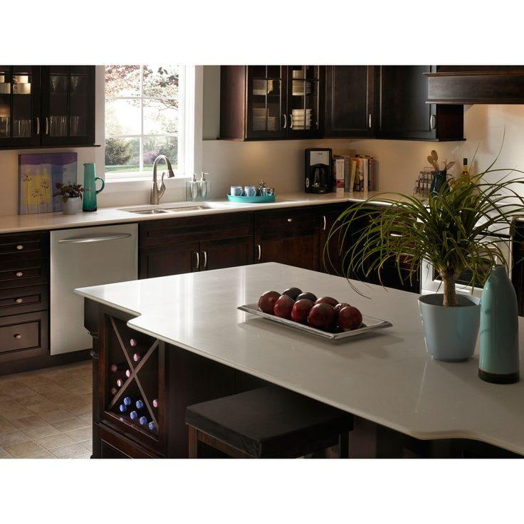 Silestone Pulsar Quartz Kitchen Countertop Sample At Lowes Com: Shop Silestone Yukon Blanco Quartz Kitchen Countertop