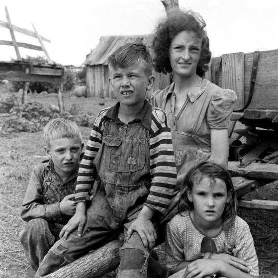 <b>Not published in LIFE.</b> Oklahoma farming family, 1942.