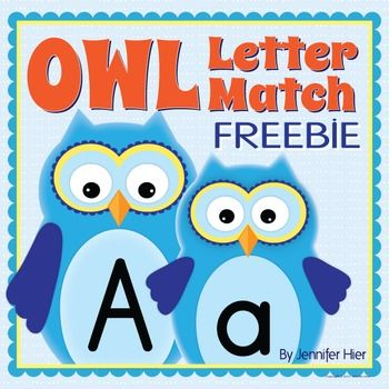 Students will practice letter recognition and will have an opportunity to explore phonemic awareness as they play this cute letter match game.  Children match the baby owl letter cards to the letters on their game board.  The set includes 4 game boards and a complete set of lowercase.  This owl activity is perfect for your preschool, pre-k, SPED, and kindergarten classrooms.  New and improved in August 2014!!!    --Check out my coordinating owl products—