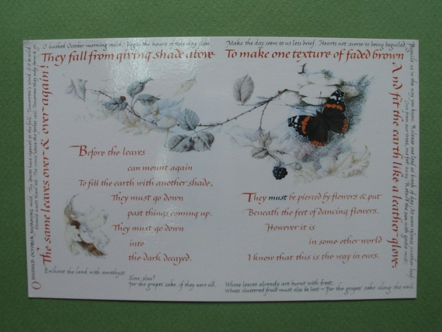 Lettering art :Quartet of the Seasons-Autumn, via Flickr.