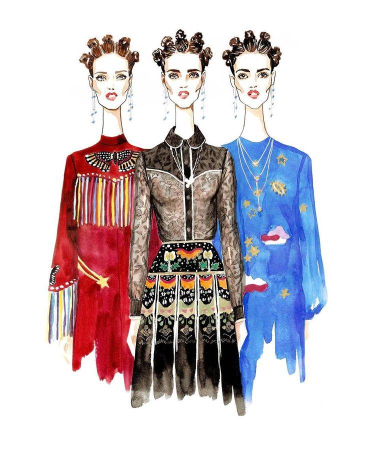 « @maisonvalentino #inspiration #watercolor #volobueva #girls #fashion_illustration #fashion #sketch »