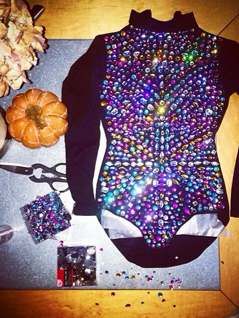 Handmade #Beyonce 2014 Tom Ford VMA #outfit in the works #halloween #diy…