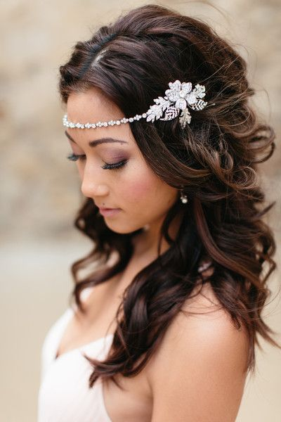 Ashlynn Headband | Silver and Crystal | Petals & Stones | Can be worn across the front, back or as a traditional headband | $100 www.shoppetalsandstones.com