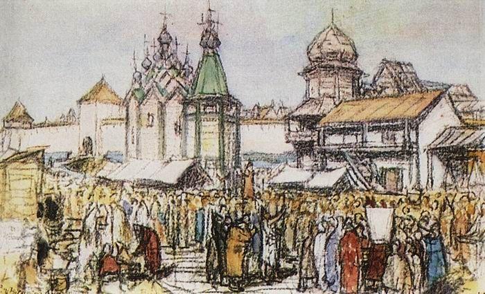 Торг около Кремля, 1930
