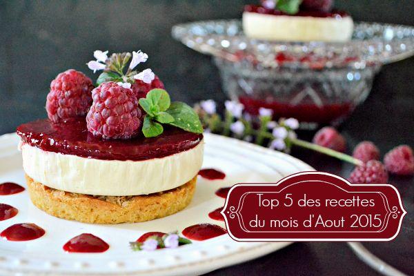 Aout 2015 - Top 5 des recettes du mois d'Aout 2015 chez Kaderick