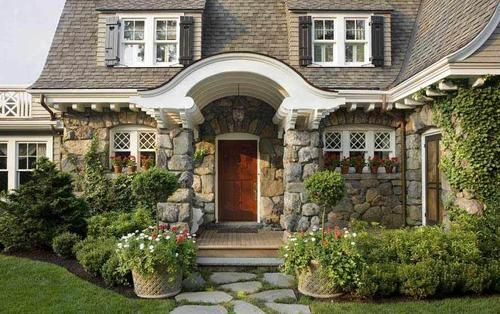 Yard: Idea, Style, Exterior, Dream House, Curb Appeal, Cottages, Homes