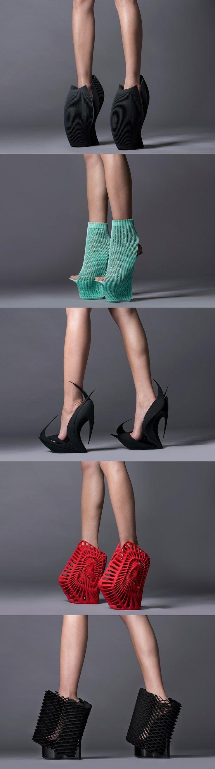 United Nude's 3D printed reinvented shoes designed by (from top) Ben van Berkel…