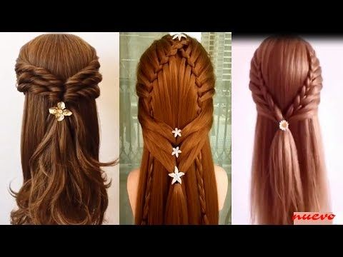 33 best peinados images on Pinterest Cute hairstyles, Easy - peinados de nia faciles de hacer