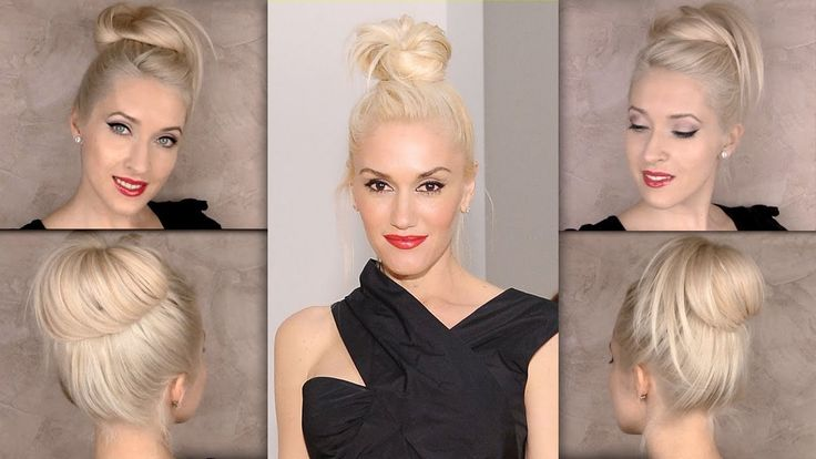 Top knot hair tutorial inspired by Gwen Stefani hairstyle