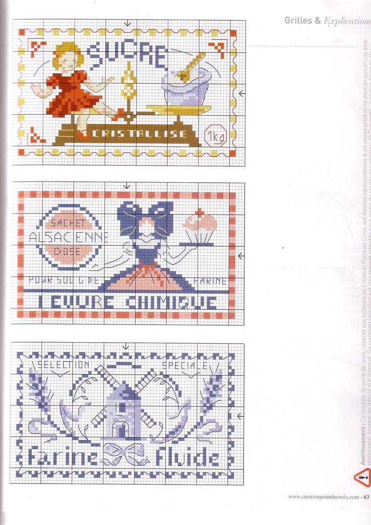 185 best point de croix cuisine images on pinterest - Point de croix cuisine ...
