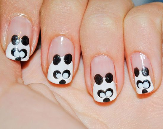 Panda Nail Art: Step by Step tutorial with pics.... cant wait to do this!! I <3 Panda's