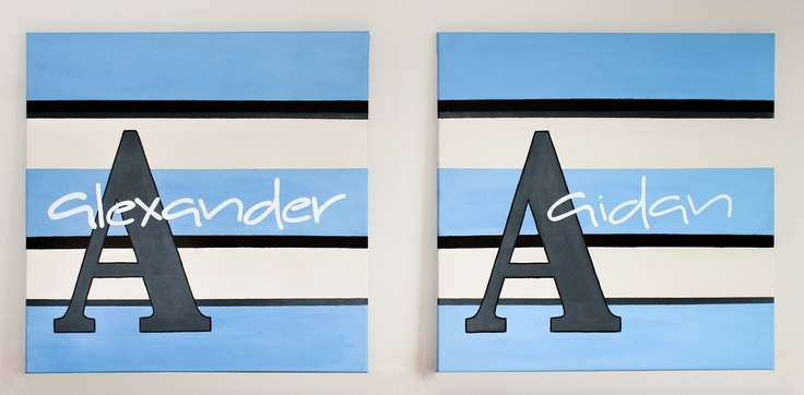 Hand crafted letter canvas - Emmily Kalyvas