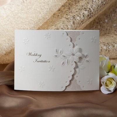 100Sets Flower Embossed Wedding Invitations Cards+100 Envelopes + 100Seals  /8114 | EBay