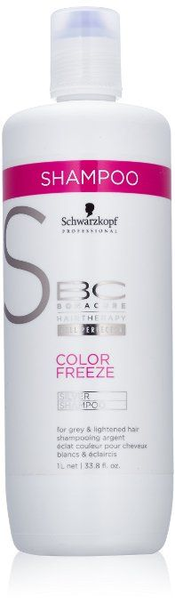 BC Bonacure by Schwarzkopf Color Freeze Silver Shampoo For Grey And Lightened Hair 1000ml