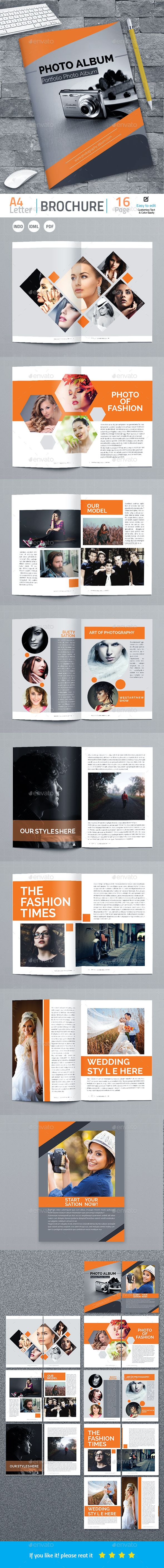 Photo Album Template InDesign INDD 16