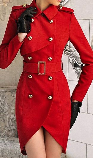 Red double  breasted coat dress on Chiq  $158.00 http://www.chiq.com/red-double-breasted-coat-dress