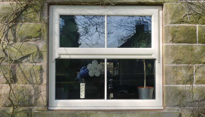 If you desire traditional style uPVC horned Sash Windows but only have limited budget for the project, take a look at our continuous sculptured sash horn feature. It's not stuck on or screwed into place: it's a continuation of the sash frame, which is then put through a milling machine to get the curved finish to improve the look of the windows.