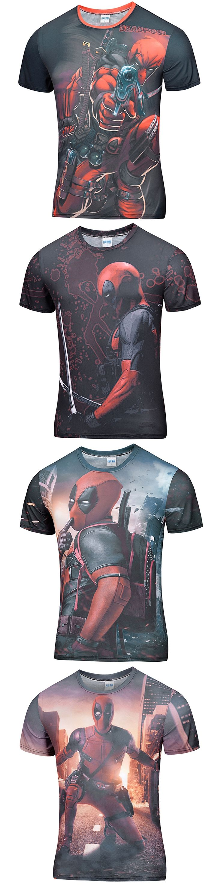 2016 New Arrive American Comic lego Deadpool costume t shirt Men Women Cartoon Characters 3d print T-Shirt Funny Hip Hop tshirt