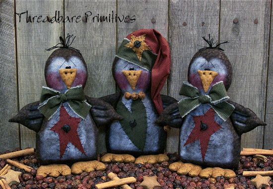 free images to make primitive dolls | Pattern Primitive Christmas Doll Santa Penguins Ornies | eBay