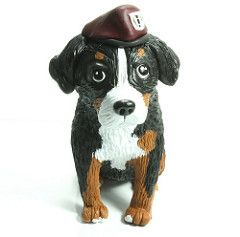 Bernese Mountain Dog in Army Beret | Handmade polymer clay s… | Flickr