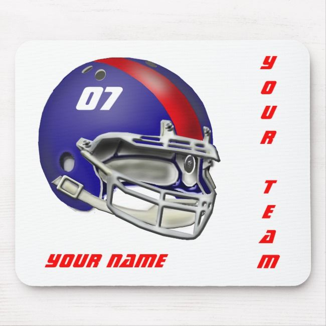 Royal Blue And Red Football Helmet Mouse Pad Football Footballplayer Footballgifts Footballteam Tjsspor Football Helmets Football Gifts Football Design