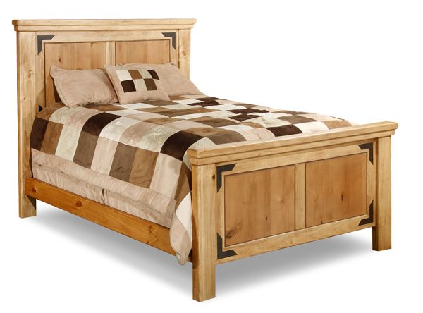 Lodge queen panel bed mexican rustic furniture pinterest for American furniture warehouse queen mattress