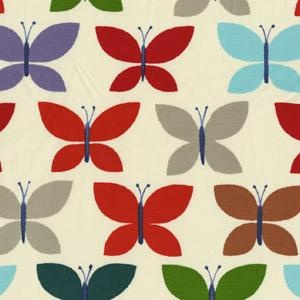 heavy weight fabric~ rainbow butterflies.  many possibilities.