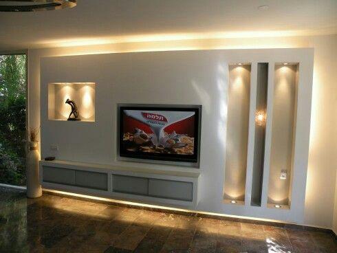 Trockenbau TV Wand  Wohnen  Tv cabinets Room Decor und