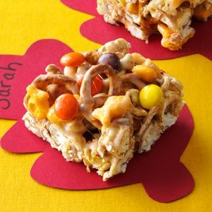 Caramel Corn Treats Recipe from Taste of Home -- shared by Cathy Tang of Redmond, Washington