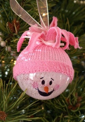 What a cute idea for a baby's 1st Christmas ornament idea! for a  boy or girl