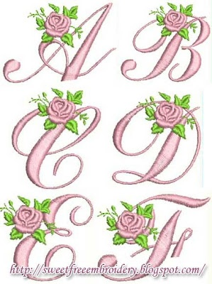 Sweet Free Embroidery: alphabet