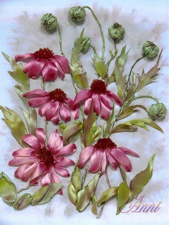 Надежда Блинова. Вышивка лентами | vyshivka lentami, cvety iz lent | Постила