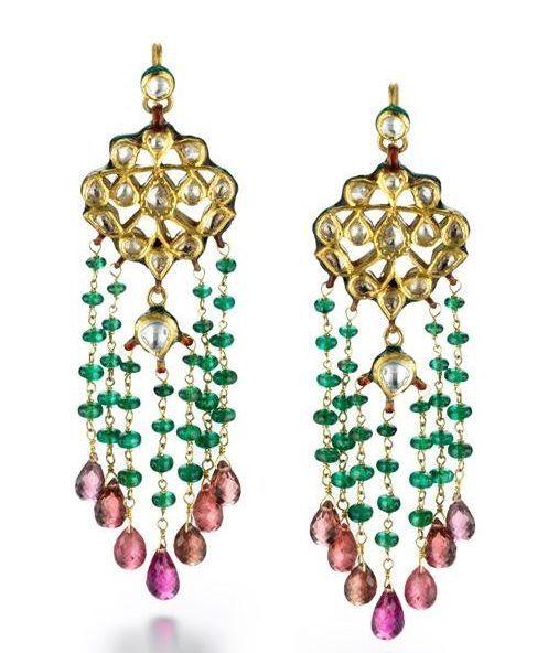 Isola Bella Gioielli Earrings for Women, Multicolor, Silk, 2017, One Size