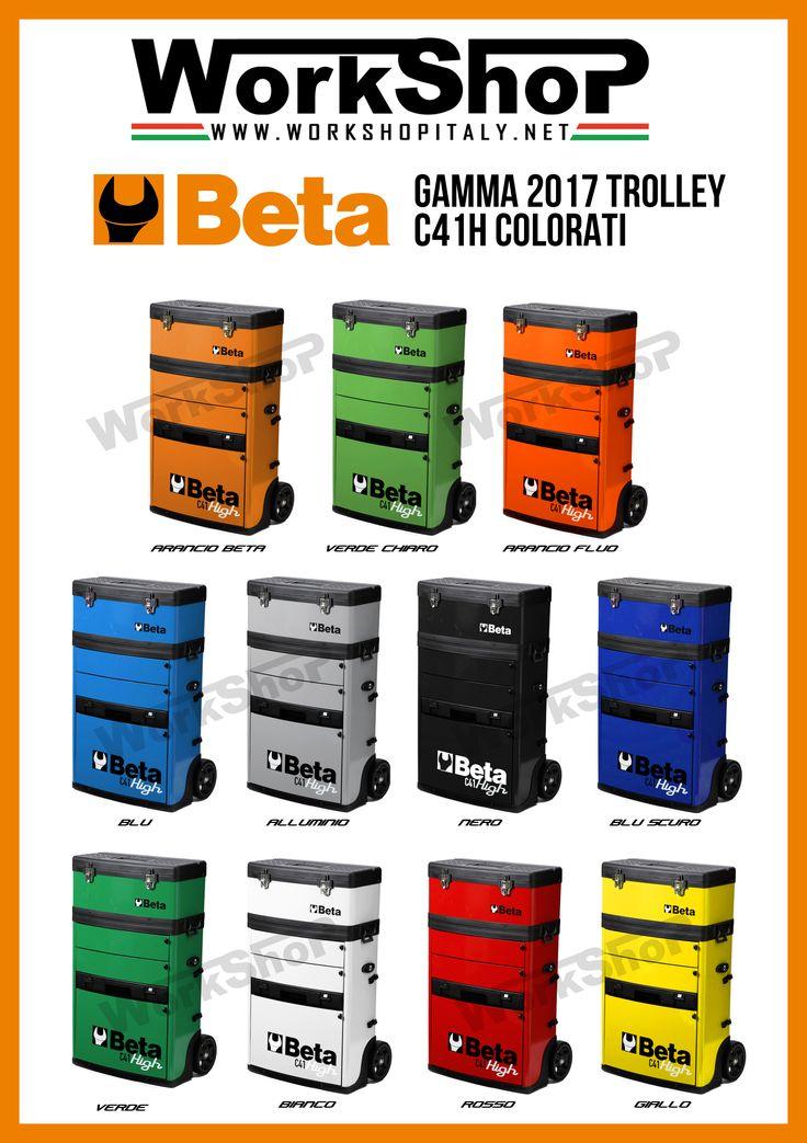 Trolley C41H Beta utensili , scopri la gamma colori sul nostro sito.  Trolley C41H Beta Tools, all color aviable on our website