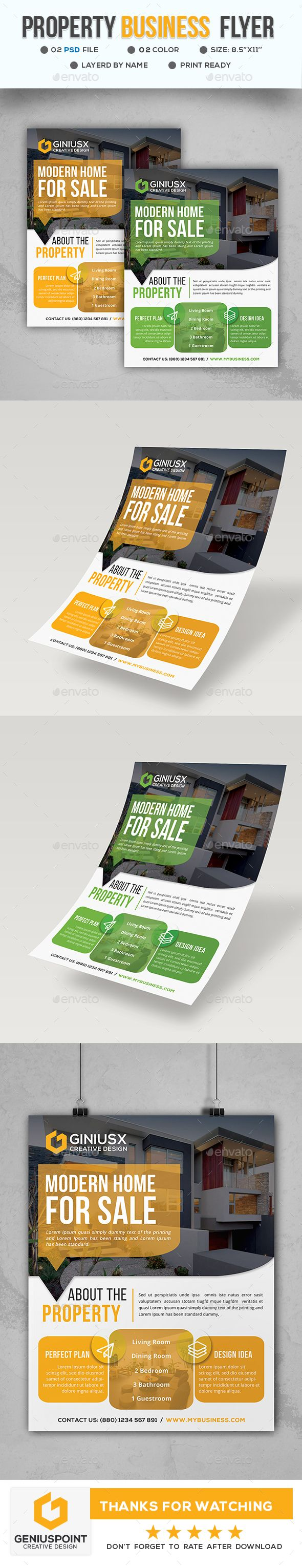 Property Business Flyer Template PSD
